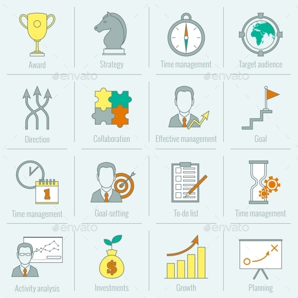 GraphicRiver Business Strategy Planning Icon Flat Line 9203728