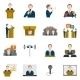 Public Speaking Icons - GraphicRiver Item for Sale
