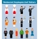 Restaurant Employees Flat - GraphicRiver Item for Sale