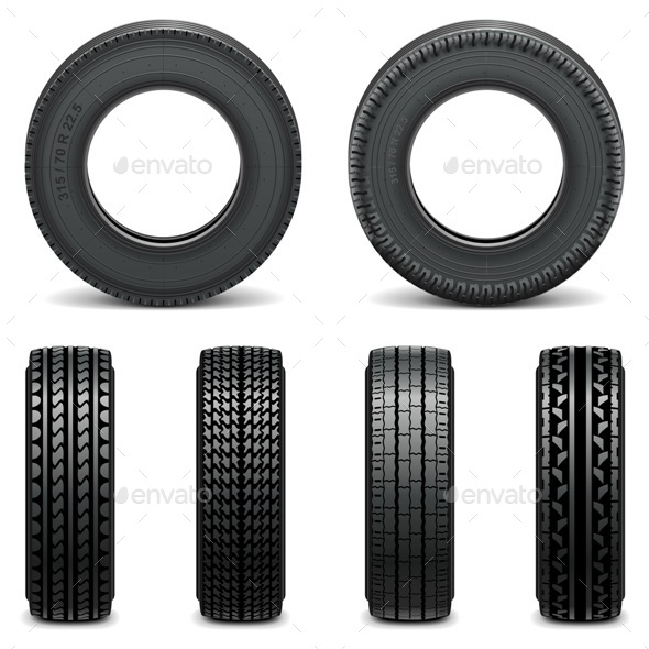 GraphicRiver Tire Icons 9203741