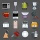 Kitchen Appliances Icons - GraphicRiver Item for Sale