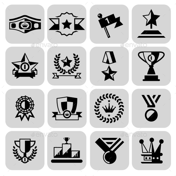 GraphicRiver Award Icons Set 9203750