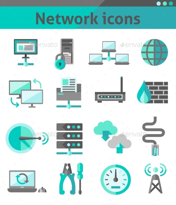 GraphicRiver Network Icons Set 9203752
