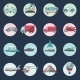 Transport Icons Round Set - GraphicRiver Item for Sale