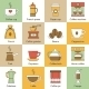 Coffee Icons Flat - GraphicRiver Item for Sale