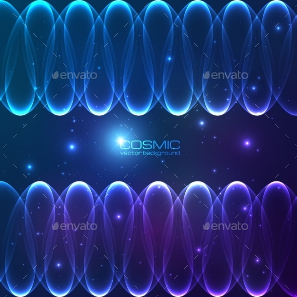 Abstract Shining Lines Cosmic Background