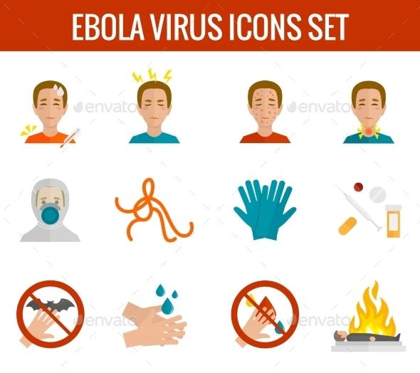 GraphicRiver Ebola Virus Icons 9203772