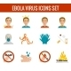 Ebola Virus Icons - GraphicRiver Item for Sale