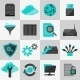 Database Icons Flat - GraphicRiver Item for Sale