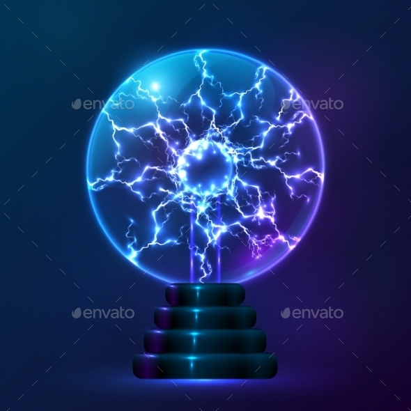 GraphicRiver Blue Vector Plasma Ball Lamp 9203810