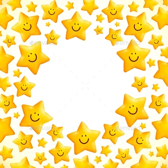 GraphicRiver Yellow Smiley Star 9203888