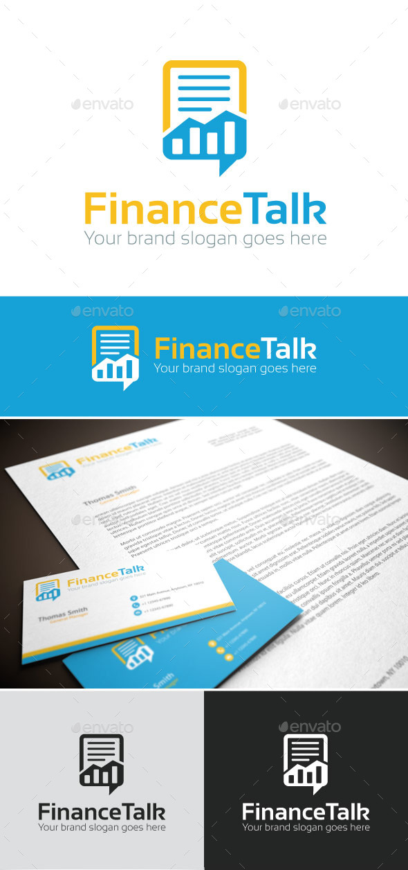 GraphicRiver FinanceTalk Logo Template 9203930