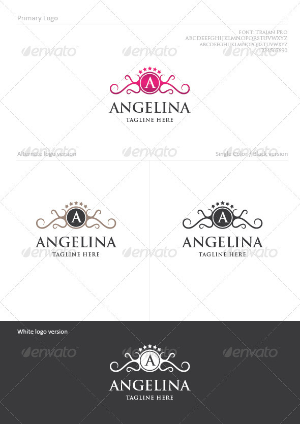 Angelina - Crests Logo Templates