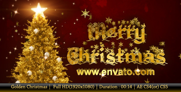 After Effects Project - VideoHive Golden Christmas 939228