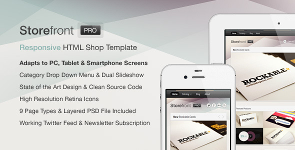 Storefront Pro — A Responsive Business Template - Shopping Retail