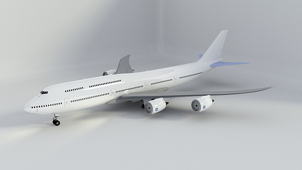 3DOcean Rigged Boeing 747-8 Intercontinental 9204383