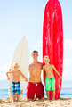 Father and Sons Going Surfing - PhotoDune Item for Sale