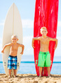 Young Boys with Surfboards - PhotoDune Item for Sale