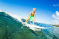 Boy Surfing Ocean Wave - PhotoDune Item for Sale