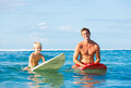 Father and Son Going Surfing - PhotoDune Item for Sale
