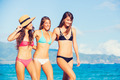 Beautiful Happy Girls on the Beach - PhotoDune Item for Sale