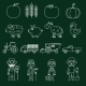 Farm Icons Set Outline - GraphicRiver Item for Sale