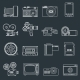 Photo Video Icons Set Outline - GraphicRiver Item for Sale