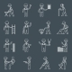 Construction Worker Icons Outline - GraphicRiver Item for Sale