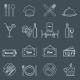 Restaurant Icons Set  - GraphicRiver Item for Sale