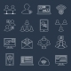 Communication Icons Set Outline - GraphicRiver Item for Sale