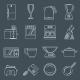 Kitchen Appliances Icons Outline - GraphicRiver Item for Sale