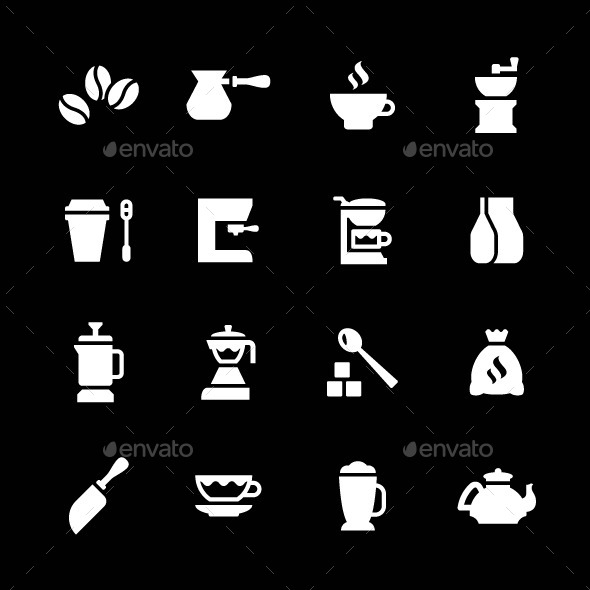 GraphicRiver Set Icons of Coffee 9205203