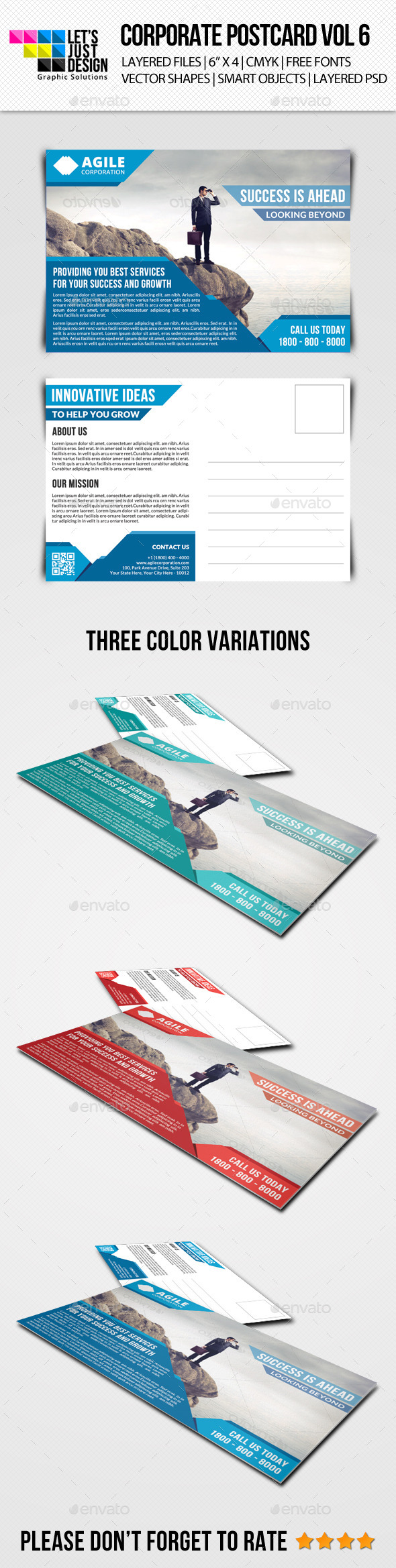 GraphicRiver Corporate Postcard Template Vol 6 9205239