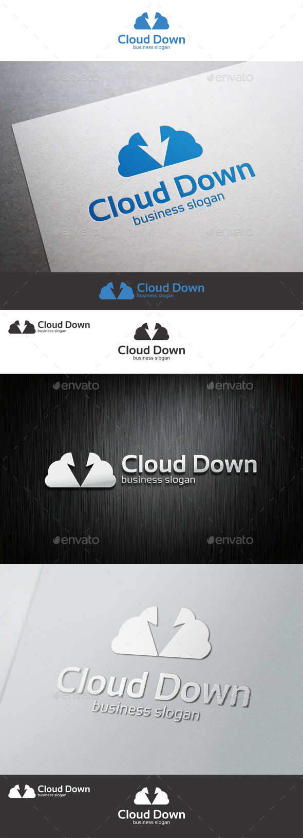 GraphicRiver Cloud Server Download Logo 9205353
