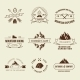 Camping Labels Set - GraphicRiver Item for Sale