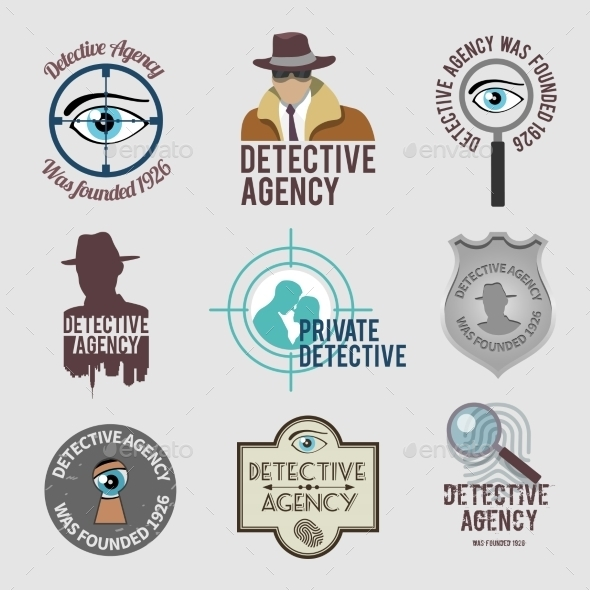 GraphicRiver Detective Label Set 9205500