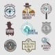 Detective Label Set - GraphicRiver Item for Sale