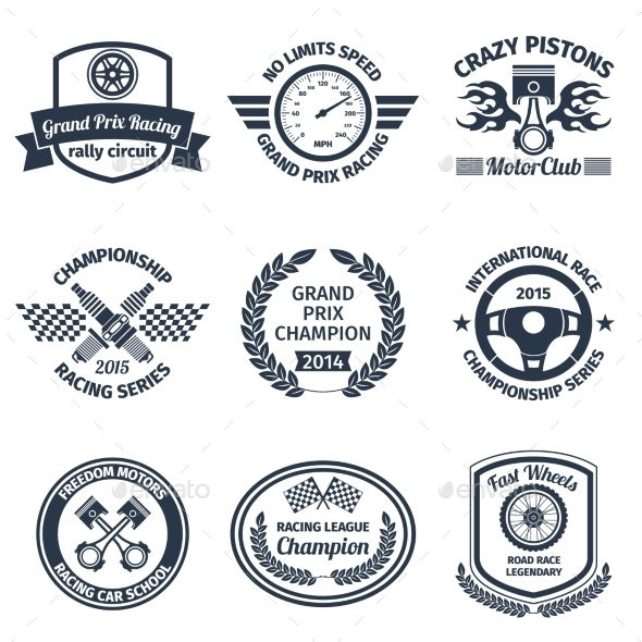 GraphicRiver Racing Emblems 9205507