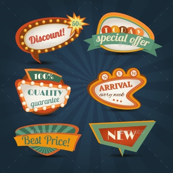 GraphicRiver Retro Speech Bubble 9205555