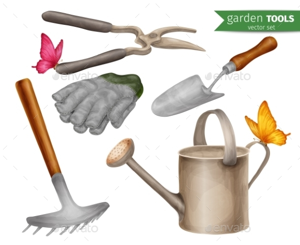 GraphicRiver Garden Tools Set 9205737