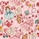 Little Girl Accessories Seamless Pattern - GraphicRiver Item for Sale