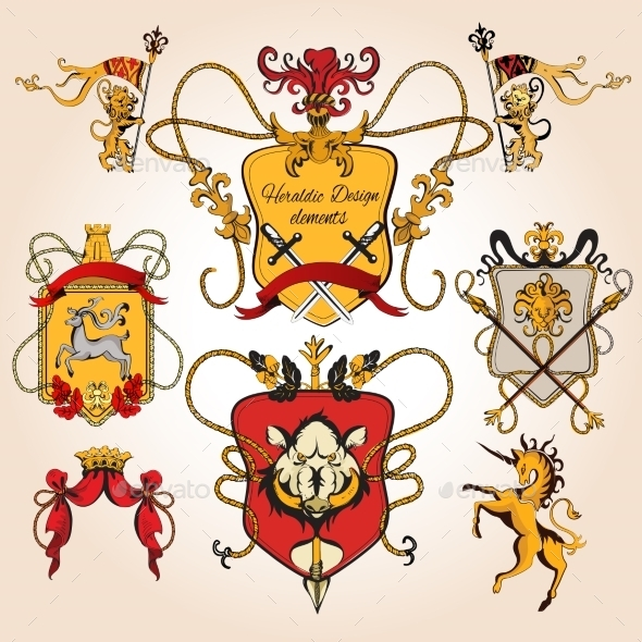 GraphicRiver Heraldic Design Colored 9205739