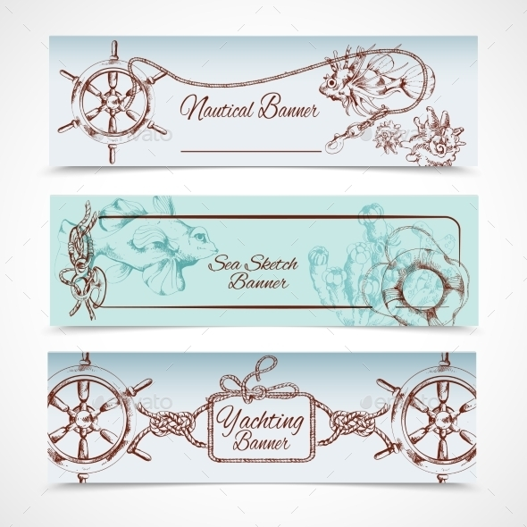 GraphicRiver Yachting Banners Set 9205741