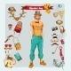 Hipster Boy Set - GraphicRiver Item for Sale
