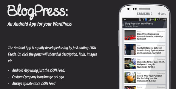CodeCanyon BlogPress An Android App for your WordPress 9205748
