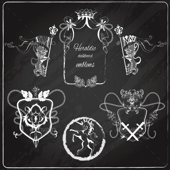 GraphicRiver Heraldic Emblems Set 9205754