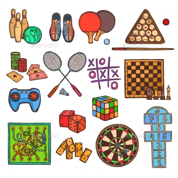 GraphicRiver Game Sketch Icons 9205869