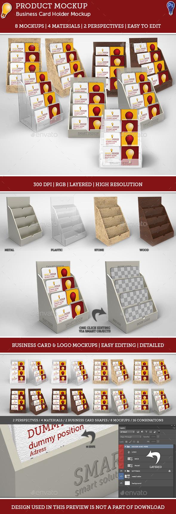 GraphicRiver Business Card Holder Mockup Set 9205896