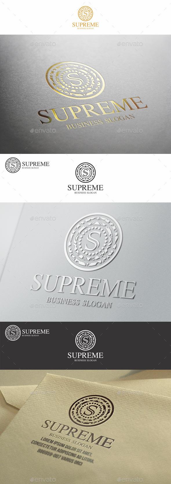 GraphicRiver Supreme S Letter Elegant Boutique Logo 9205903