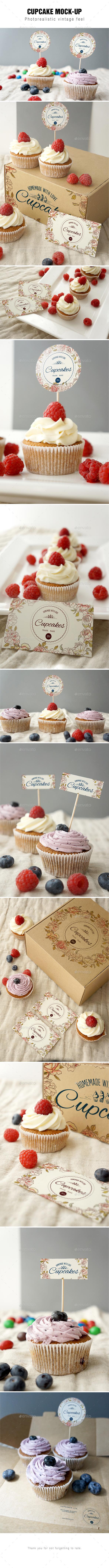 GraphicRiver Cupcake Mockup 9206104